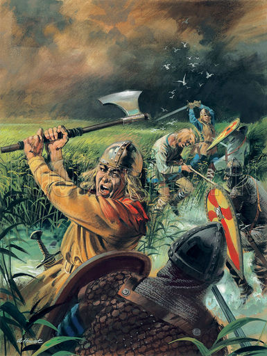 A monk led William in by a little-known path. Earl Morkere and other nobles were taken but Hereward and a few friends escaped the Normans'. After sheltering in the wildwoods he left these shores forever with friends and Flemish wife Alftruda