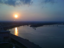 Sunset from top of Galt House Hotel