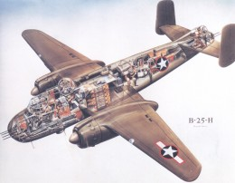 A B-25 which was one type of plane America provided