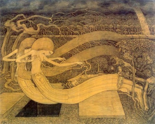 Jan Toorop: O Grave, Where Is Thy Victory, 1892