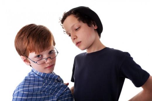 teen boy bullying child