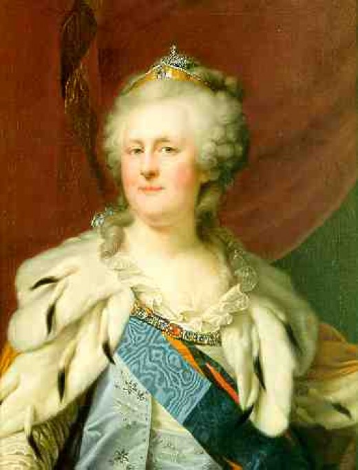 Painting of Catherine the Great by Lampi the Elder