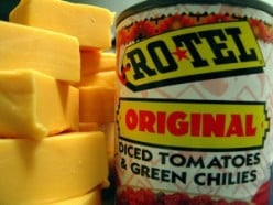 velveeta and rotel make a great cheese dip. It is a simple cheese sauce recipe.