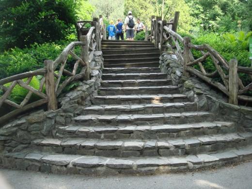 The grand staircase in Shakespeare Garden.