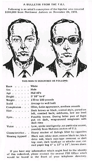 Coopers FBI Wanted Poster