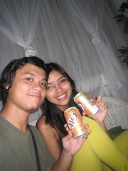 This is me with the lovely Adrienne Nicole Bernal with two A&W Cream Sodas (this is the new design of the can)