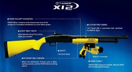 Taser 12 gage non-lethal weapon