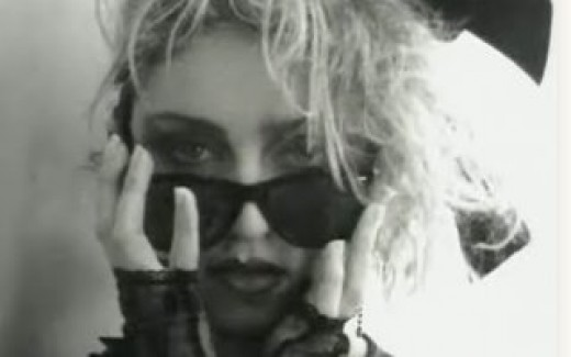The first song Madonna wrote as a signed artist was ''Lucky Star'', a simple but catchy love song.. Released in 1984, it charted at #4 in the US and #14 in the UK (one of the very few Madonna singles that peaked outside of the UK Top 10).