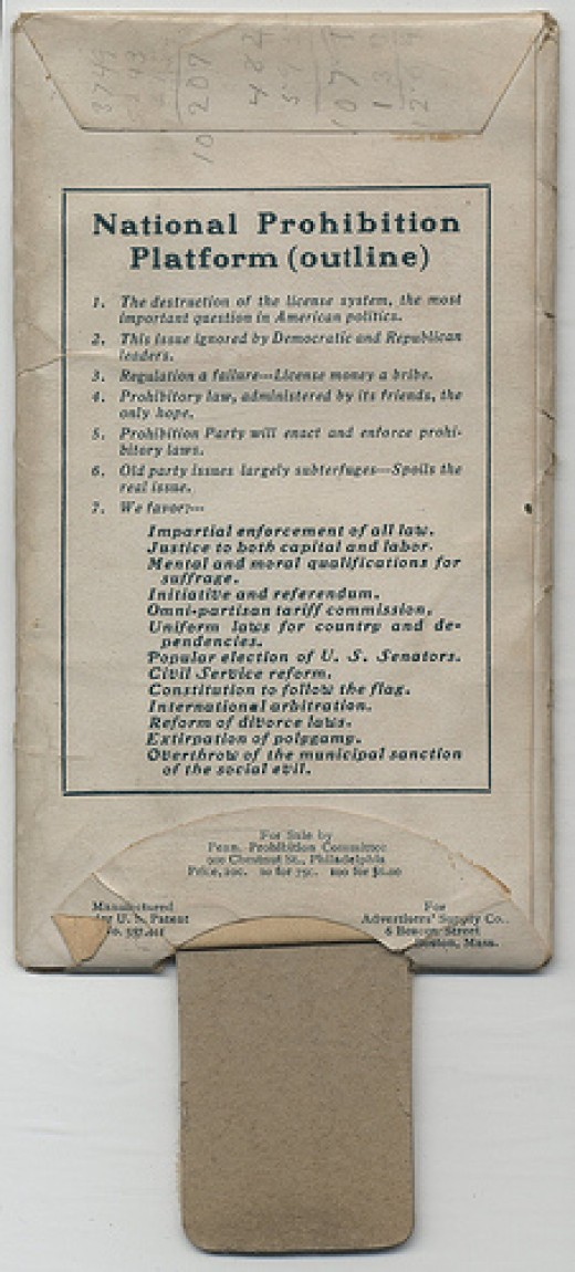 Prohibition Party Campaign Card