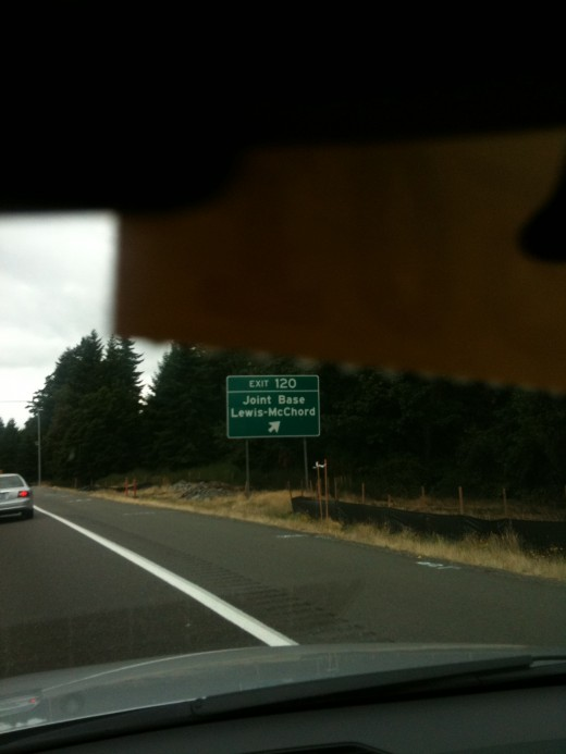A SIGN I HAVE NEVER SEEN BEFORE (It use to say Fort Lewis)