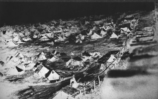 Tents of the army camped out