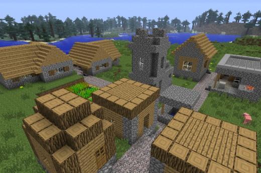 Minecraft NPC Village.