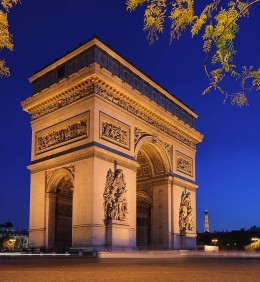 The Arc de Triomphe on the Place Charles de Gaulle