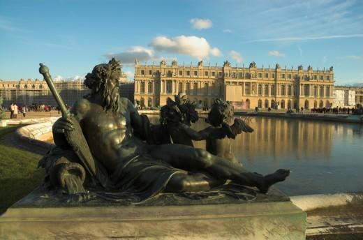 'The Seine' by tienne le Hongre in front of the Chteau de Versailles