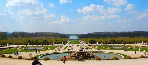 View over the Parc de Versailles from the Palace