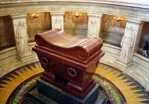 The tomb of Napoleon underneath the Dome