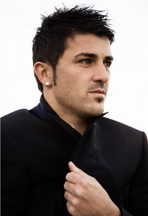 David Villa faux-hawk hair.