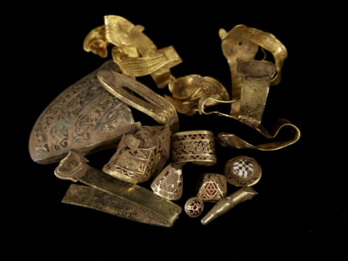 This file is licensed under the Creative Commons Attribution 2.0 Generic license.. See: http://en.wikipedia.org/wiki/File:Staffordshire_hoard_annotated.jpg