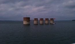 the hydroelectric intake towers