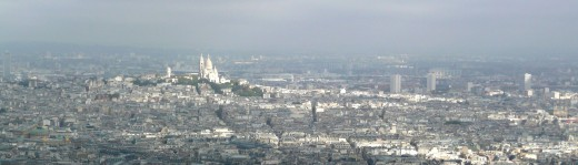 Montmartre with the Sacr-Coeur on top