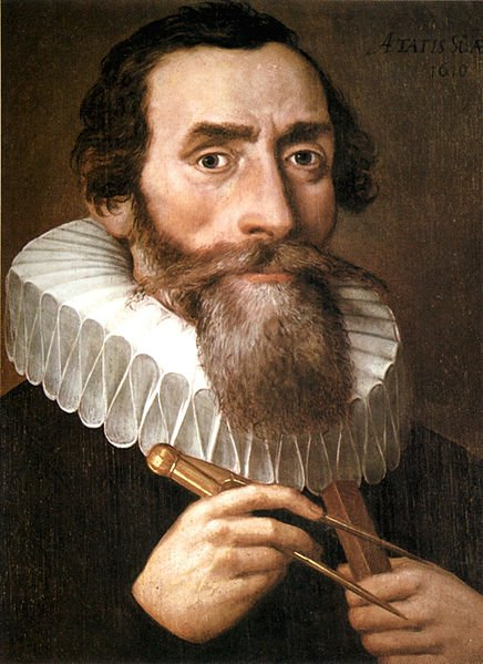 A portrait of Kepler in 1610