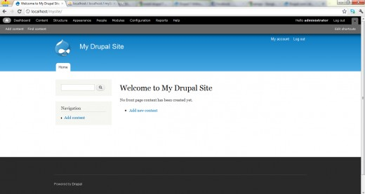 New home page of Drupal site