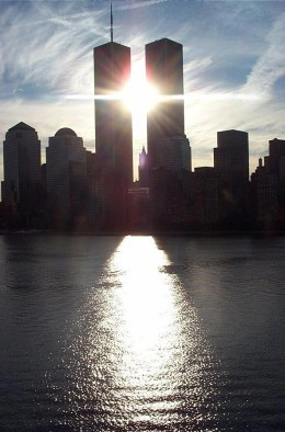 I flew in to the airport in Newark, N.J. on September 9, 2001, and I remember seeing the World Trade Center from the highway, as I headed toward New York City, on my way home to Massachusetts.