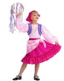 Halloween Costumes for Kids: Fun Girls' Easy-Sew Gypsy & Princess Costumes