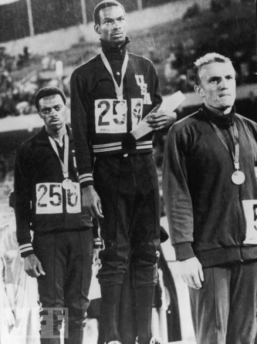 168 Mexico long jump medal winners