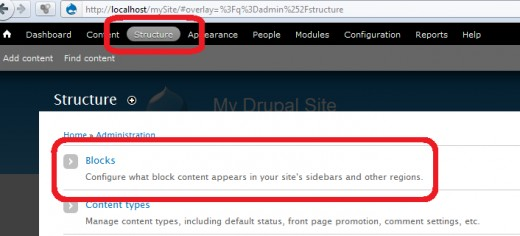 Disable Powered by Drupal - Access Blocks option form Sturcture Panel
