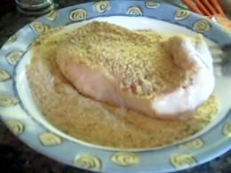 Dip Chops in Bread Crumbs