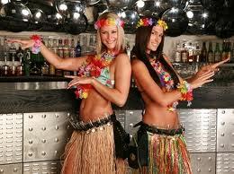 Hawaiian hula dancers abound!