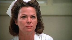 Louise Fletcher as Nurse Ratched in the 1975 film, One Flew Over the Cuckoo's Nest.