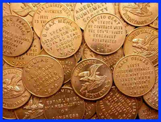 Gold Bicentennial coins like the ones shown in this photo can be purchased for as little as $19.00. They also come in set of five or six, which can be purchased together for a bit more. The initial purchase will only grow in value over the years.