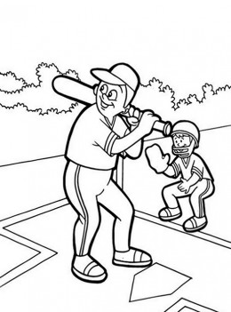 Batter Up - World Series Baseball Colouring Pictures to Print-and-Colour