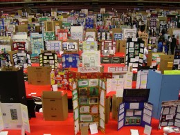 A whole room full of Science Fair projects