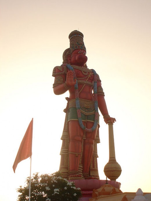 The tallest Hanuman, 85 feet Murti outside of India, located in Trinidad and Tobago
