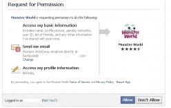 Facebook Monster World
