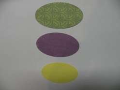 Three oval shapes to cut out for the stamping mat.
