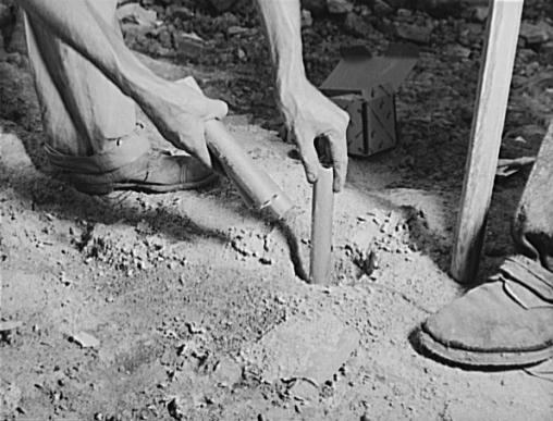 Preparing Dynamite for explosion.