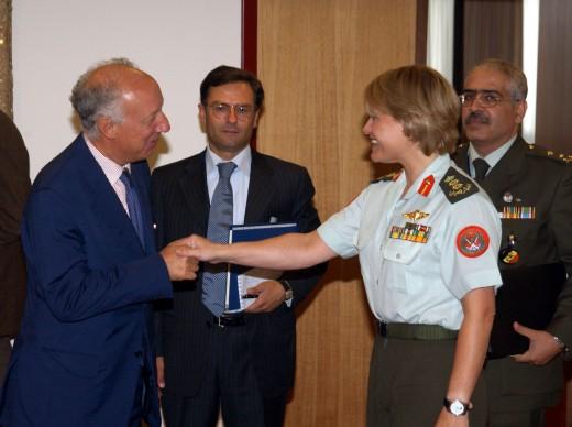 Ambassador Rizzo with HRH MG Aisha, Jordan