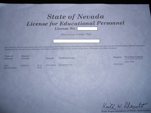 The permanent license.