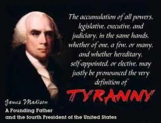 James Madison and the definition of tyranny