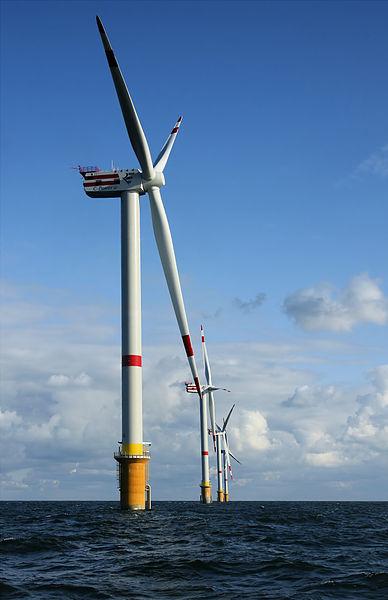 Offshore wind turbines in Belgium