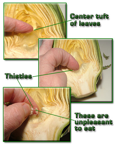 Removing the choke from an artichoke is easy once you get the hang of it!