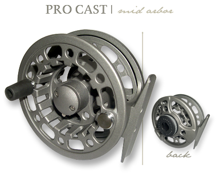 It has the light aluminum frame. Cortland's Pro Cast model  fly reel is very tough and sturdy. The graphite knob and the polyurethane rum extra for further control  as well as a grip which improve its smooth functionality.