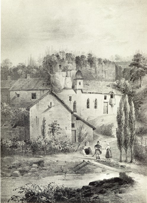 Chapel of Saint-Quirin, Luxembourg. Drawing by Nicolas Liez.