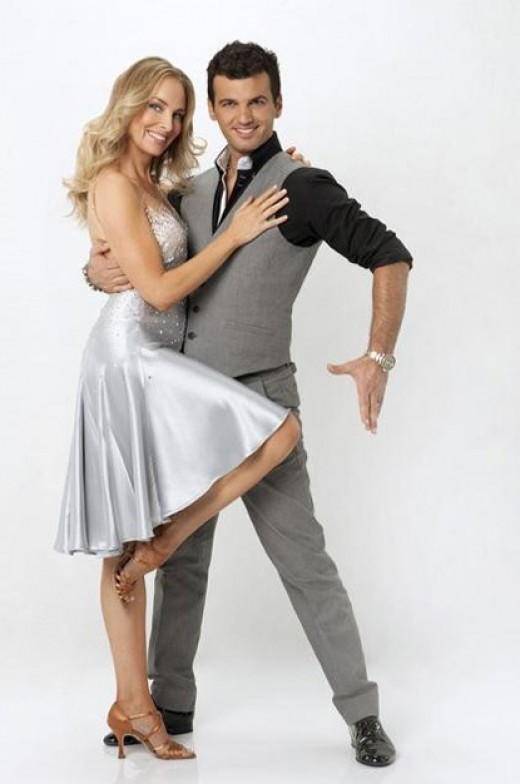 Chynna Phillips and professional dancing partner Tony Dovolani