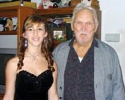 My middle child, Jordan and my dad in February of 2011 before her Winter Formal