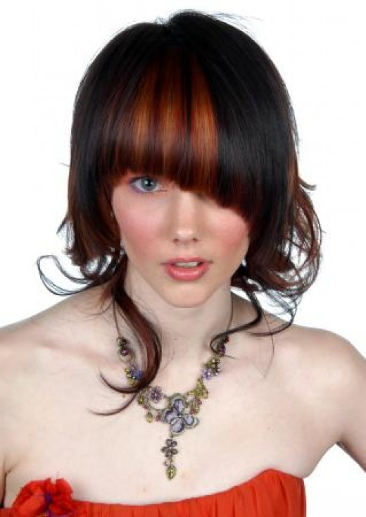 Haircuts 2012 will shine in many modern and beautiful colors, such as in orange, red, blonde, black and warm brown. Take a look at our selection of popular haircuts 2012.